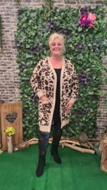2152 Vest VM Emma print leopard zand t/m 54