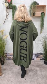 2412 Vest Vogue olijf groen t/m 50