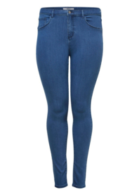6364 Jeans Carstorm push up hw sk medium blue t/m 54