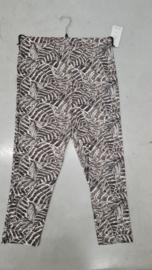 7016 Legging print blad taupe - grijs t/m 58