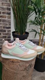 Sneaker La Strada beige - green mint t/m 42