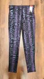 7022 Legging print Shiny zebra paars t/m 58