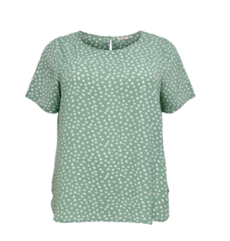 5662 Shirt Carluxina print chinois green t/m 54