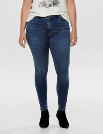 6345 Jeans Caraugusta hw skinny medium blue t/m 54