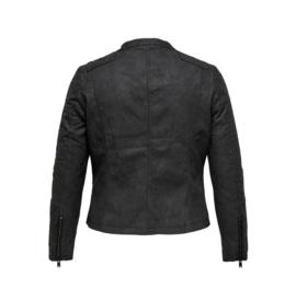 2110 Caravana Leather Biker jasje black  t/m 54