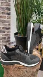 Sneaker La Strada Black glitter stones  t/m 42