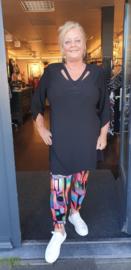7016 Legging print Arty colors black t/m 58