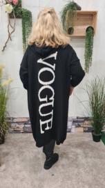 2412 Vest Vogue zwart  t/m 50