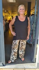 6324 Broek Tina print tiger t/m 58