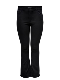 6376 Jeans Caraugusta life reg  flare black t/m 54