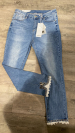 6350 Jeans Monday blue kant en strik t/m 48