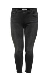 6349 Jeans Carwilly reg ank skinny  jeans black denim t/m 54