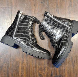 Veter Boot  Snake lak black