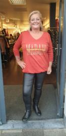 5392 Shirt Coburn roest bruin t/m 58