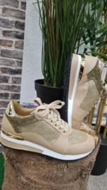 Sneaker La Strada Gold glitter stones  t/m 42