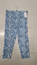 7016 Legging print blad blauw t/m 58