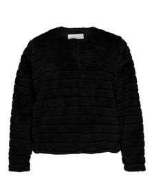 8041 Fake Bont Jacket Carlouise zwart t/m 54