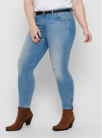 6348 Jeans Carkarla life reg sk ank zip light blue denim t/m 54