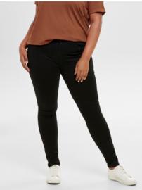 6345 Jeans Caraugusta hw skinny black t/m 54