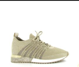 Sneaker La Strada knitted beige / silver t/m 42