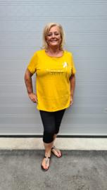 5486 T- Shirt Carfoil geel t/m 54