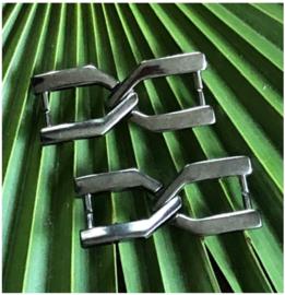 Elda Gun Metal Silver
