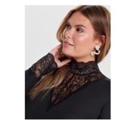 1550 Tuniek/ jurk Carlace Higneck zwart t/m 54