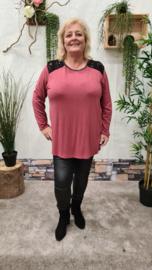 2853 Shirt Cantina bordeaux t/m 50