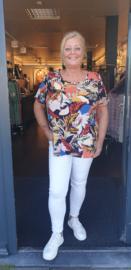 5451 Shirt Carluxlou print tropical t/m 54