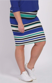 6309 Rokje Stripe Green- Blue t/m 58
