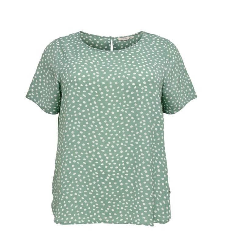5662 Shirt Carluxina print chinois green t/m 54