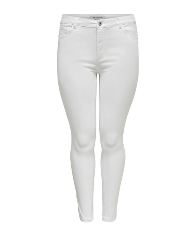 6345 Jeans Caraugusta hw skinny wit  t/m 54