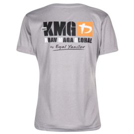 KMG - Dry fit T-shirt - P3-P5 - polyester - lichtgrijs - damesmodel - met KMNH logo