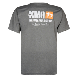 KMG - Dry fit T-shirt - G levels - polyester - donkergrijs