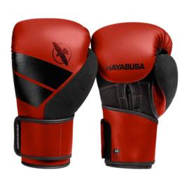 Hayabusa S4 Bokshandschoenen - Rood - met Hayabusa Perfect Stretch Handwraps - Black - 4,5 meter