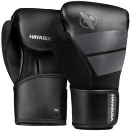 Hayabusa S4 Bokshandschoenen - Zwart - 6 of 8 oz - Kinderen 6 - 11 jaar