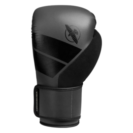 Hayabusa S4 Boxing Gloves - Charcoal - met Hayabusa Perfect Stretch Handwraps - Black - 4,5 meter