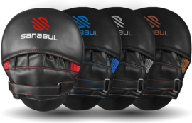 Sanabul Essential Curved Punch Mitts - zwart, rood