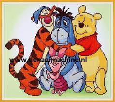 Diamond painting Winnie the Pooh met vriendjes