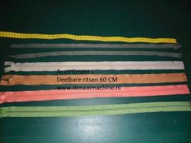 Assortiment L, 60 cm deelbare rits voor o.a. jas