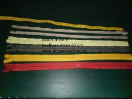 Assortiment E, 60 cm deelbare rits voor o.a. jas