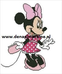 Diamond painting Minie Mouse met tasje (purse)