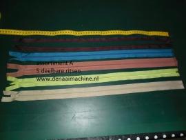 Assortiment A, 60 cm deelbare rits voor o.a. jas