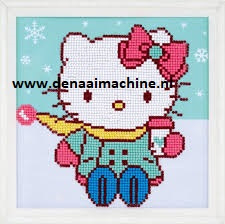 Diamond painting Hello Kitty winter