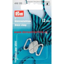 Prym bikini sluiting 12 mm zilver