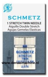 Naaimachine naald  voor stretch tweeling 75