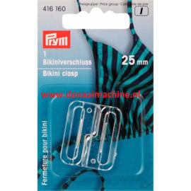 Prym bikini sluiting 25 mm transparant