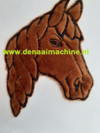 Applicatie paard hoofd bruin