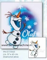 Diamond painting Frozen Olaf