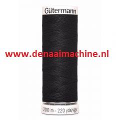 naaigaren Gütermann wit en zwart met spoeldoos